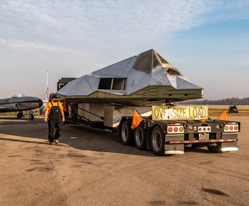 The first operational Lockheed F-117 Nighthawk released for public display east of the Rockies