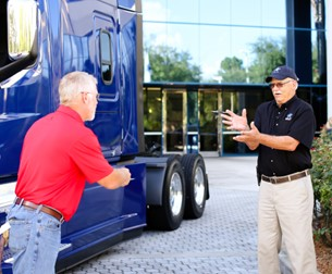Landstar All-Star Truck Giveaway Winner with Landstar President and CEO