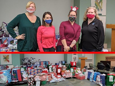 Landstar employees donate gifts to Angel Tree.